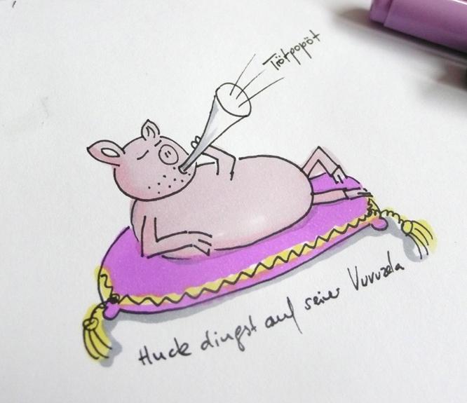 Schweinchen trötet