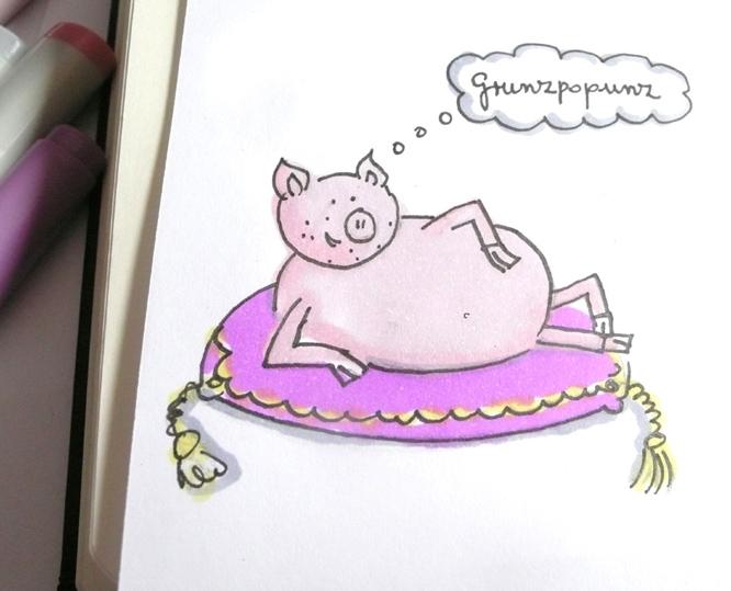 Grunzendes Schweinchen