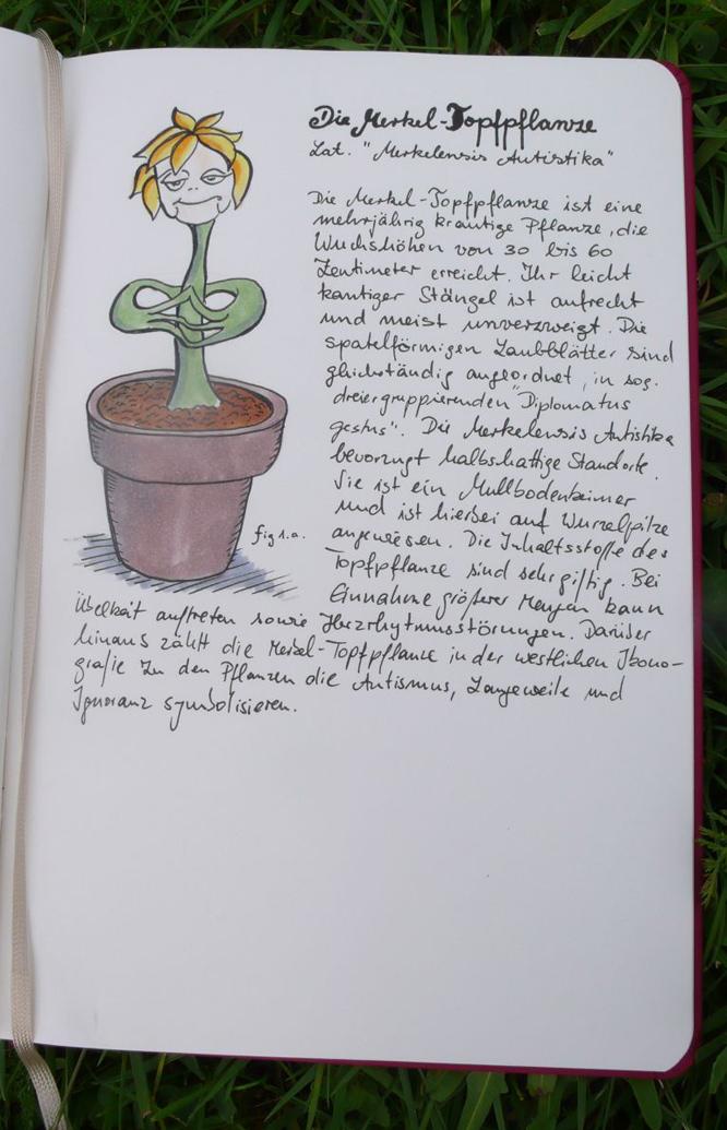 Merkel Topfpflanze nach einer Idee von Malte Welding