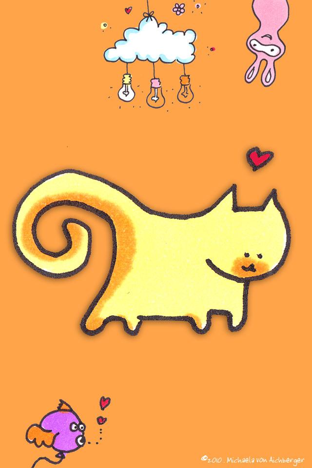iPhone HG gelbe Katze