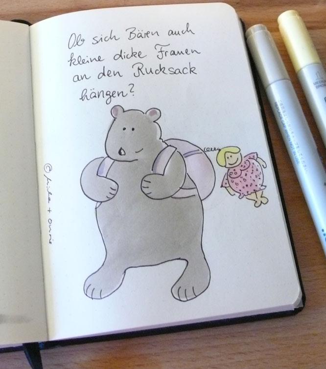 Bären und kleine dicke Frauen