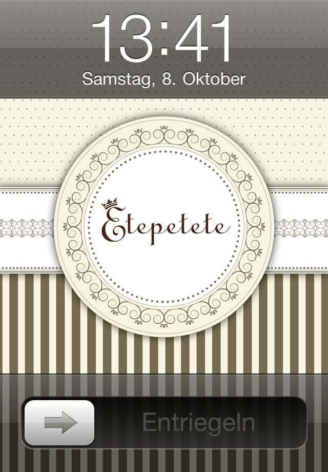 Etepetete Lockscreen