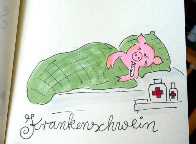 Krankenschwein